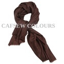 Brown Weeker Weave Wool Silk Scarves