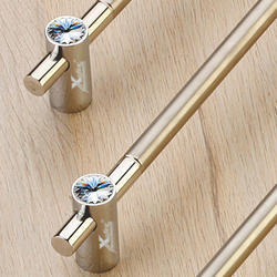 Brass Swarovski Crystal Cabinet Handle