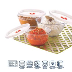 Borosil Glass Mixing Bowl With Lid