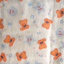 Printed Nursery Print Flannel Fabric, For Baby Garment and quilts