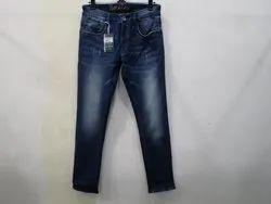 Mens Dark Blue Slim Fit Stretch Jeans(PW-04B)