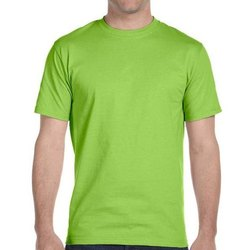 Polyester Casual Wear Green Round Neck Sublimation T Shirt, Size: M
