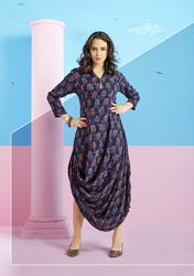 PR Fashion New Navy Blue Colored Readymade Designer Kurti