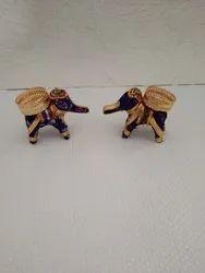 Decorated Handmade Elephant Candle Holders