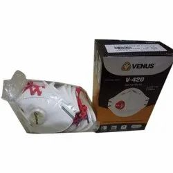 Reusable Venus V-420-SLV Respirator Mask, With Valve, Number of Layers: 5
