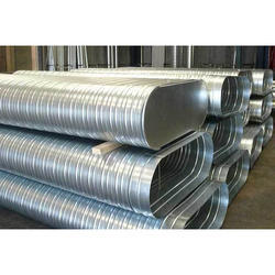 Galvanized Iron Silver 20 Gauge Spiral Oval Duct, For Industrial