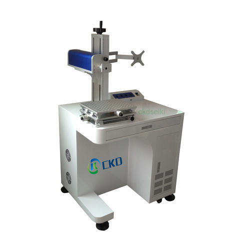 Assembing Tabletop Fiber Laser Marking Machine All In One Ckdfi03c