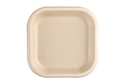 Brown 7 Inch Bagasse Square Plate