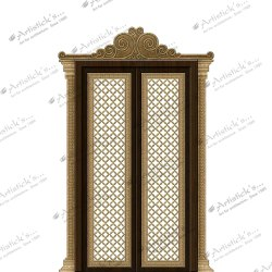 Modern pooja room doors