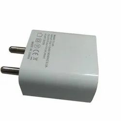 White Mobile Charger Adapter, Input 100-240v