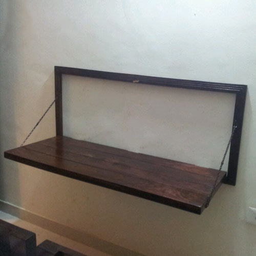 Superbe Wall Mounted Wooden Study Table