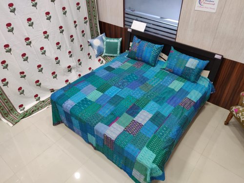 Beautiful Bold Kantha Decor Bed Cover