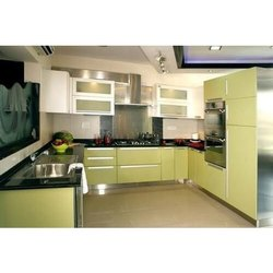 Acrylic ,MDF, Modular Kitchen