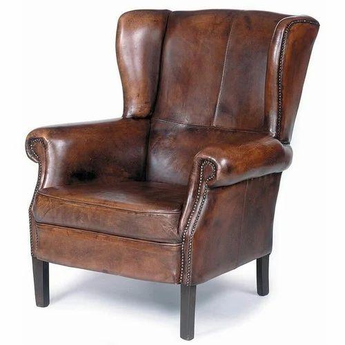 Designer Single Seater Leather Sofa