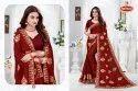 Art Silk Embroidery & Diamond Work Saree - Satrangi