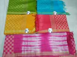 pts 5.5 m (separate blouse piece) bhagalpuri sarees, Machine Made
