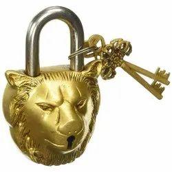 Lion Shape  Brass Lock