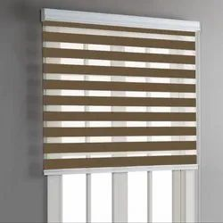 Mat Horizontal Blinds Brown Zebra Blind