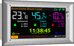 Hospital OT Room Temperature, Humidity & Room Pressure Monitor