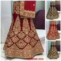 Indian Ethnic Designer Velvet Embroidered Bridal Lehenga
