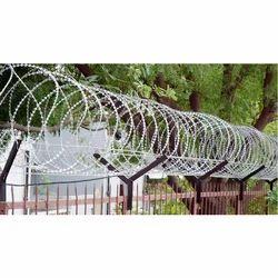 Mild Steel Cross Razor MS Concertina Wire Coil