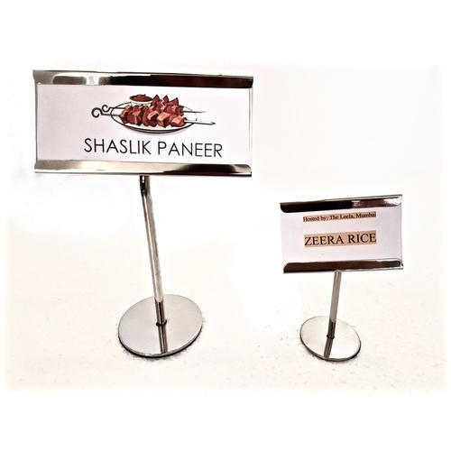 menu stands clamp menu stand manufacturer from new delhi