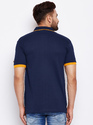 100% Cotton Men Half Sleeve Polo Neck Dark Blue  T-Shirt