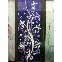 Decorative Aluminium Single Door, Thickness: 30 mm
