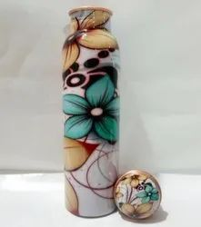 Copper Meena Print Bottle