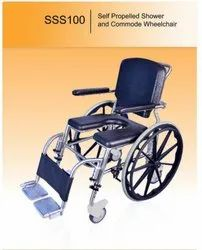 SHOWER & COMMODE WHEEL CHAIR- SSS100
