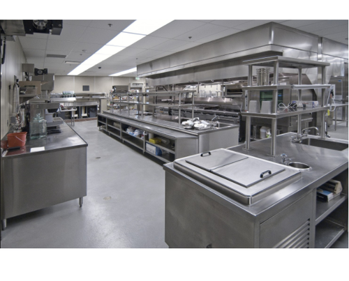 Stainless Steel Catering College Central Kitchen