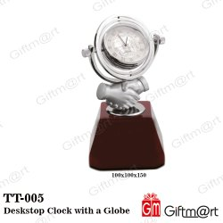 Analog Deskstop Clock with a Globe, Packaging Type: Box Pack