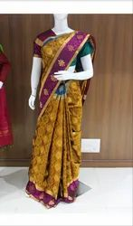 Party Wear Fancy people Ladies Printed Pure Silk Saree, 6.3 m (with blouse piece)