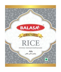 Gujarati, Marwari Circlular 2 KHICHIYA RICE PAPAD, Packaging Size: 500 Gms & 100 Gms