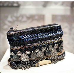 354de9b0cc6 Black Beadwork Designer Handmade Clutch Purse, Rs 499 /piece | ID ...