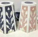 Frustum Bone Inlay Candle Holders