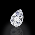 Pear Cut White Colorless Moissanite Stone