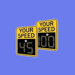 Aluminum SafePace 400 - 2 or 3 Digit Radar Speed Sign