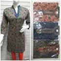 Full Sleeves Cotton Printed Kurti