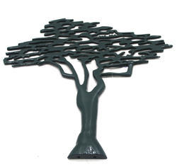 37.50 X 2 X 38.50 Cm And Aluminium Wall Decor Tree