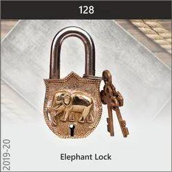 Golden Vintage Elephant Lock