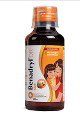 Plastic Benadryl DR Kids Cough Syrup, for Dry Cough