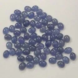 Natural Caliberated Tanzanite Stone Smooth Oval Cabochon