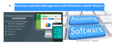 Purchase and Sales Management with Biometric and RF Readers