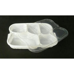 5 Compartment Meal Tray with Lid
