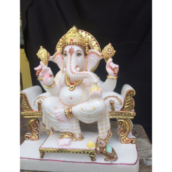 White Marble Ganesh Statues