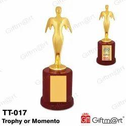 Giftmart Golden Trophy Momento, Size: 12 inch