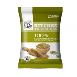 Kitchen Treasures Organic Coriander Powder, Packaging Size: 200g, Store In Cool And Dry Place