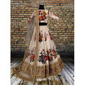 Brocade And Georgette Bridal Lehenga Choli