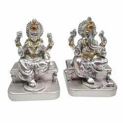 Resin Laxmi Ganesh Statue, Packaging Type: Box